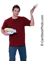 A man ready to pose wall paper.