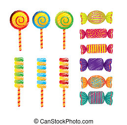 candies drawing