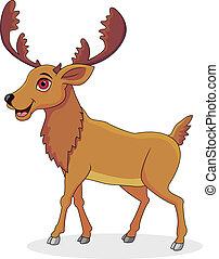 Happy moose cartoon