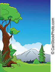 Nature background - vector illustration of Nature background