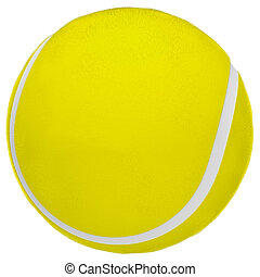 3d Render of a Tennis Ball Isolated on White