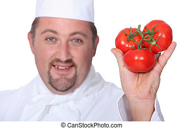 Cook with three tomatoes
