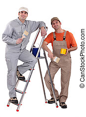 two painter working together