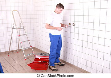 Placing electrical outlet