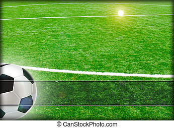 Football background. - Abstract football background for the...