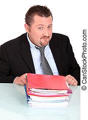 Portrait of a businessman bored