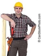 fiducioso, carpentiere