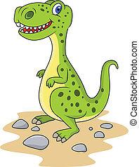 Funny dinosaur - vector illustration of Funny dinosaur
