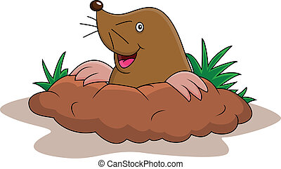 Happy mole cartoon