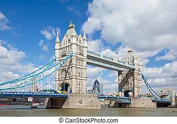 Tower Bridge London - London River Thames and Tower Bridge...