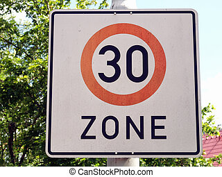 Speed limit sign - A speed limit road sign