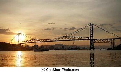 Hercilio Luz Bridge at Sunset