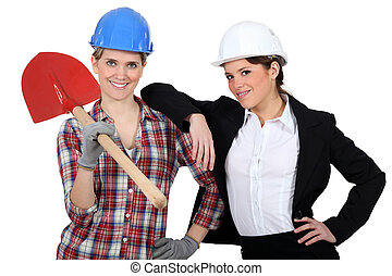 Female builder with female architect