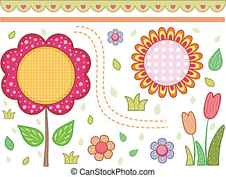 Floral Border - Border Illustration with a Floral Theme