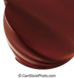 chocolate icing - tasty chockolate icing isolated on white