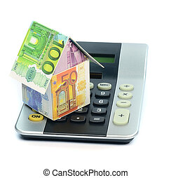 Costs of real estate proprerty - Financial concept of the...