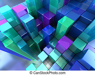 Abstract background - 3d abstract background of blue modern...