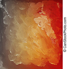 Acrylic painting - Abstract modern acrylic painting using as...