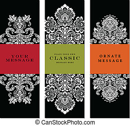 Vector Ornate Frame Set Easy to edit Perfect for labels,...