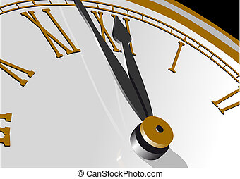 Time - Abstract vector illustration of a clock almost...