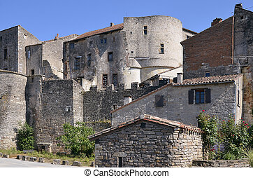 Village of Cordes-en-Ciel in France - Old village of...