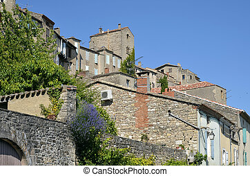 Village of Cordes en Ciel in France - Old village of Cordes...