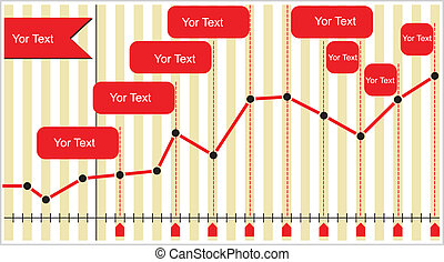 Charts with diagram and copy space area on abstract...