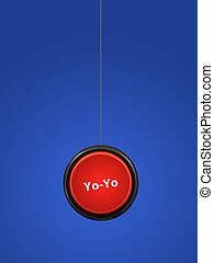 YoYo - A toy yoyo isolated against a white background