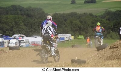 Motocross race, called madcross in Boebingen Germany,...