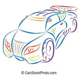 sports car - abstract sports car sketch