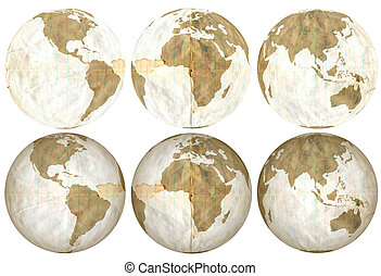 Earth made of Degraded Loose Leaf
