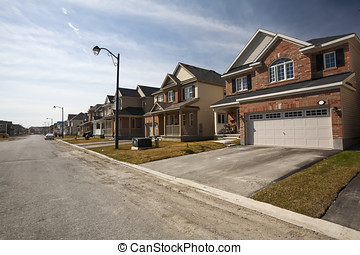 New Homes in Sub Division - A view of new homes in a...
