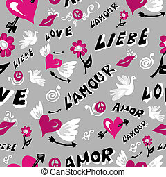 Love icons seamless pattern - Love symbols seamless pattern....