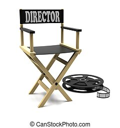 Directors chair with film strip