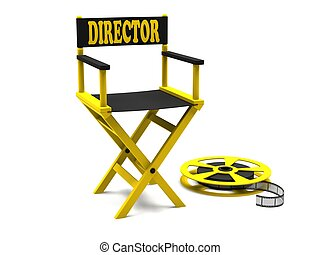 Directors chair with film strip - Film industry: directors...