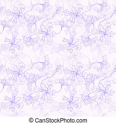 Tropical Flowers background Seamless pattern - Abstract...