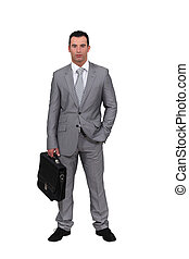 Man wearing an oversized suit