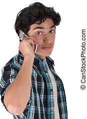 Young man using a cellphone