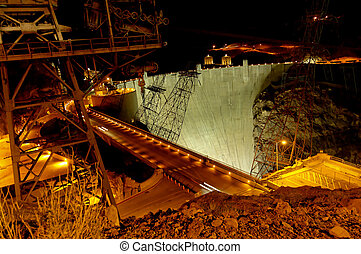 Stock Photographs of Hoover Dam at Lake Mead - Famous Hoover Dam ...