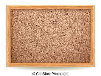 corkboard - Vector illustration - corkboard on white, EPS...