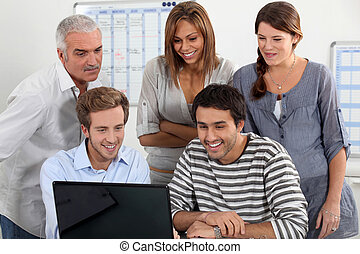 Students about computer