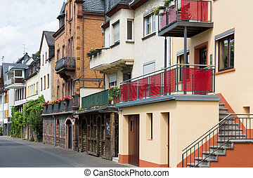 Cityscape of Zell, historic city at the river Moselle in Germany