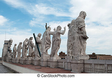 Statues of Jesus and Apostles - Basilica of Saint Peter