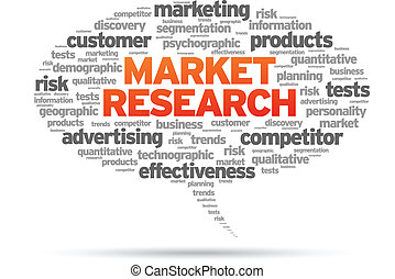 Market Research speech bubble illustration on white...