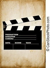 movie clapper - special toned great for your design and...