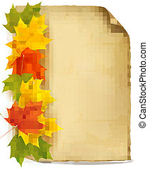 Autumn background with color leaves