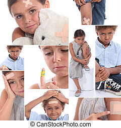 Kids with injuries