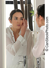 mujer, Ser aplicable, Maquillaje