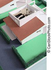 House keys on model housing project