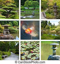 Japanese garden collage